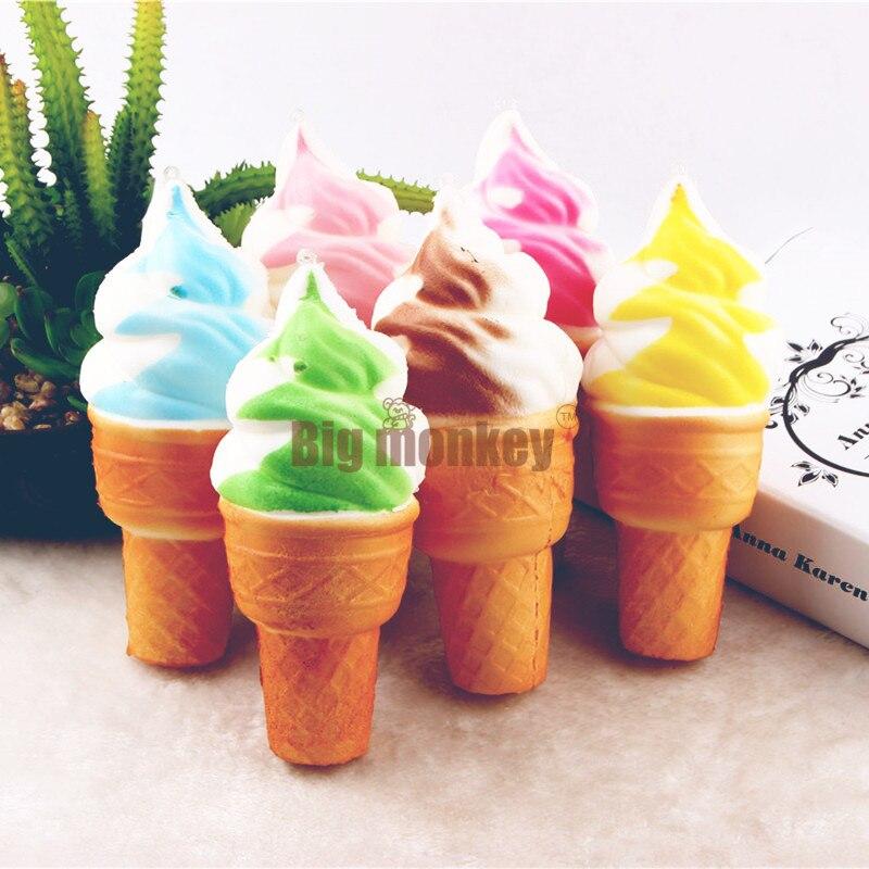 imágenes para Mono grande 15 unids/lote, 16 CM de LA PU Colores Candy La simulación GRANDE helado Galletas Galletas Encanto Blando