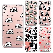 2016 New China cute panda For apple iPhone 6S case silicone Animation For iPhone 6 Plus