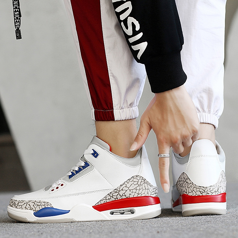 Official Basketball Shoes Men Boy JD Sneakers Retro 3 Professional Shockproof All White Star Trainers Max Size European 45