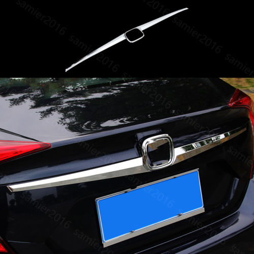 Chrome ABS Fit For Honda Civic 16-17 Rear Trunk Lid Tailgate Molding Cover Trim