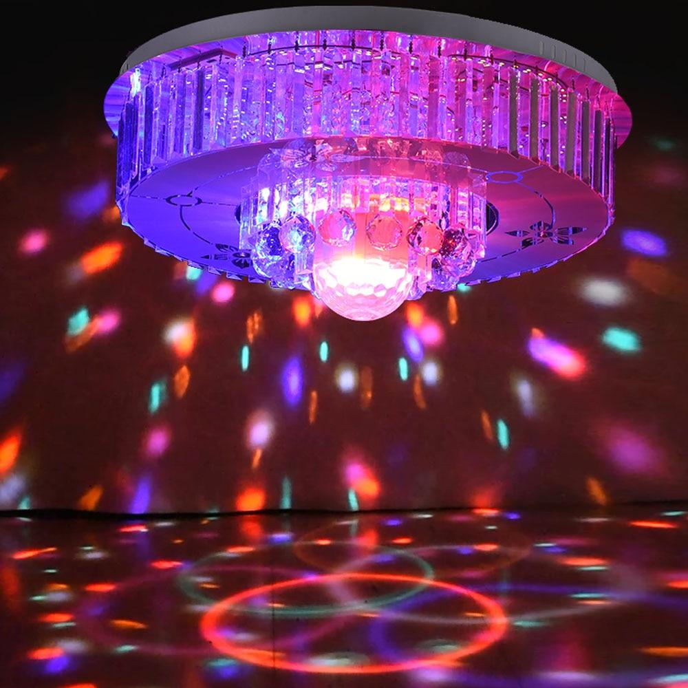 HGHomeart LED Crystal Ceiling Light Lustre Luminaire Bluetooth Crystal Music Living Room Lights Night Lamp Decoration 110V/220V