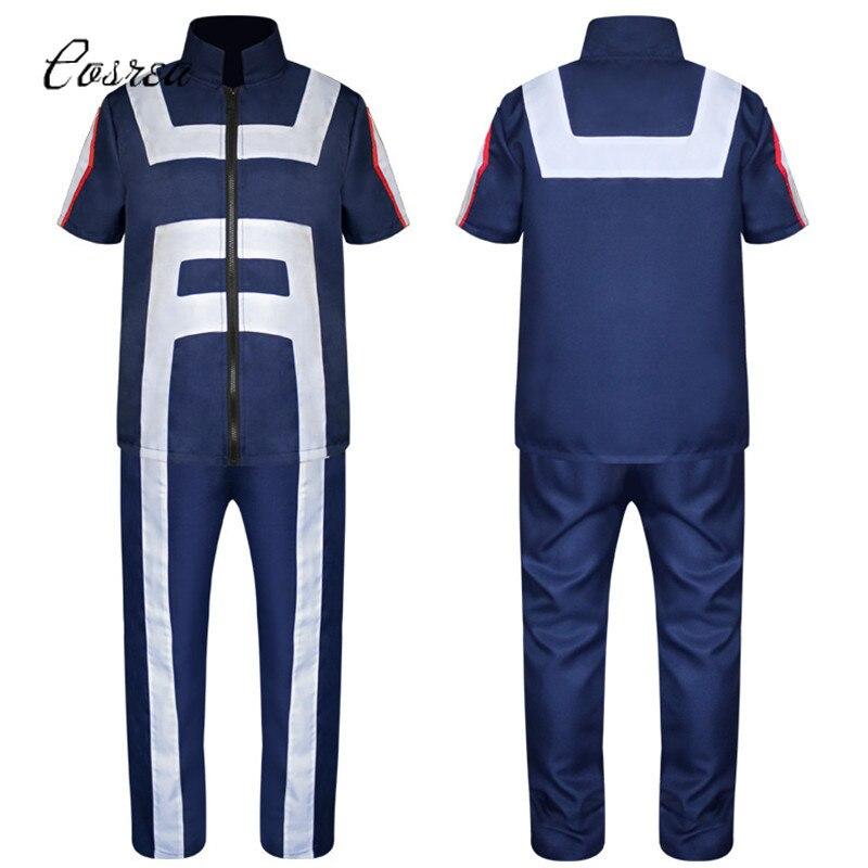 Anime My Hero Academy Cosplay Sportswear Tops+Pants Uniform Clothing Set Bakugou Katsuki/Iida Tenya/Todoroki Shouto
