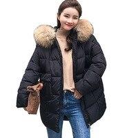 Big Fur Parkas Female Women Winter Coat Thick Cotton Winter Jacket Womens Outwear Parkas for Women Winter down jacket Plus Size