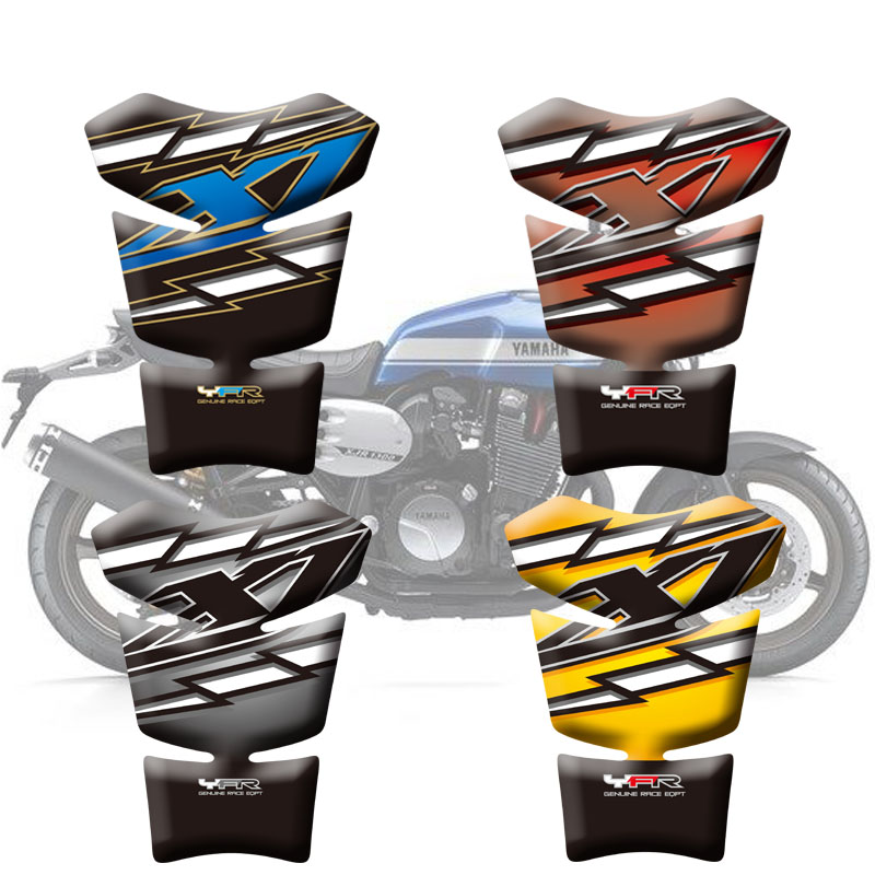 Motorcycle Stickers High quality Fuel Tank Sticker Fishbone Protective Decals 3D Tank Pad For Yamaha XJR 1200 XJR 1300