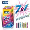(28 pcs) New sixiangni Genuíno 7 em 1 preservativos de látex do preservativo espiga preservativos para homens adultos produtos Sexo