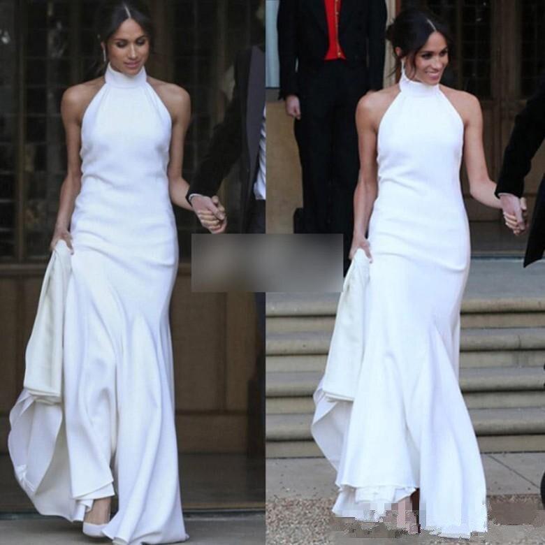 Elegant White Mermaid Wedding Dresses 2018 Prince Harry Meghan