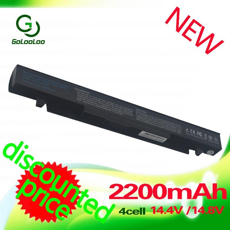 Golooloo 2200mah Battery For Asus X450 X550 X550C X550A x550v X550CA A41-X550 A450 A550 a41-x550e F552 K550 P450 P550 A41-X550A 2600mah 14 4v laptop battery for asus a41 x550 a41 x550a x450 x550 x550c x550b x550v x550d x450c x550ca 4cell szxx