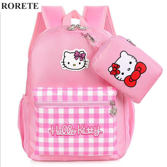 a4c70c3bdfed Hello Kitty Children School Bags for girl Waterproof Mochilas Kids Backpacks  Primary Cartoon Backpack Lovely kid Bag X832