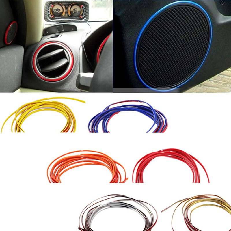 2016 new hot adhesive 5m flexible trim for car interior exterior moulding strip decorative line. Black Bedroom Furniture Sets. Home Design Ideas
