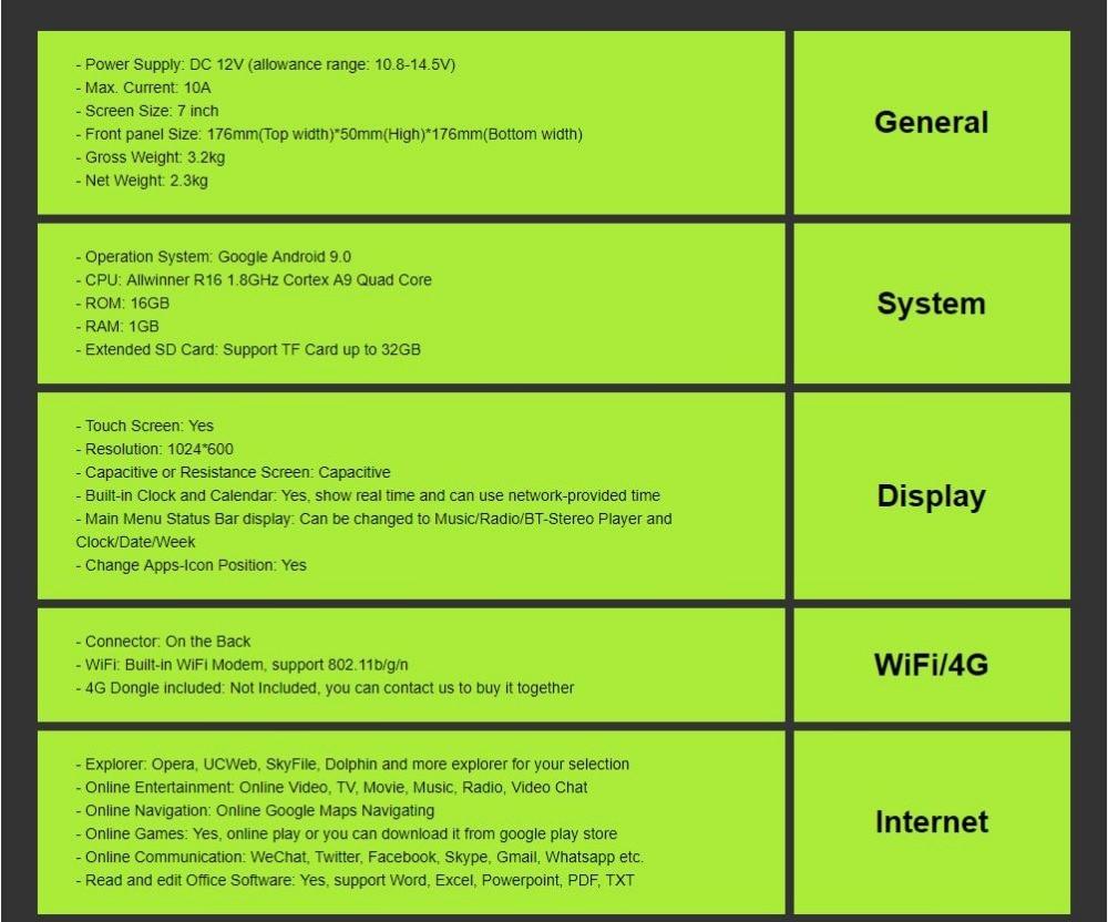 Universal 1din Car Radio Android GPS Bluetooth Autoradio Stereo Mirrorlink  Multimedia Nav Player SWC DAB+TPMS RDS DVR BT MIC MAP
