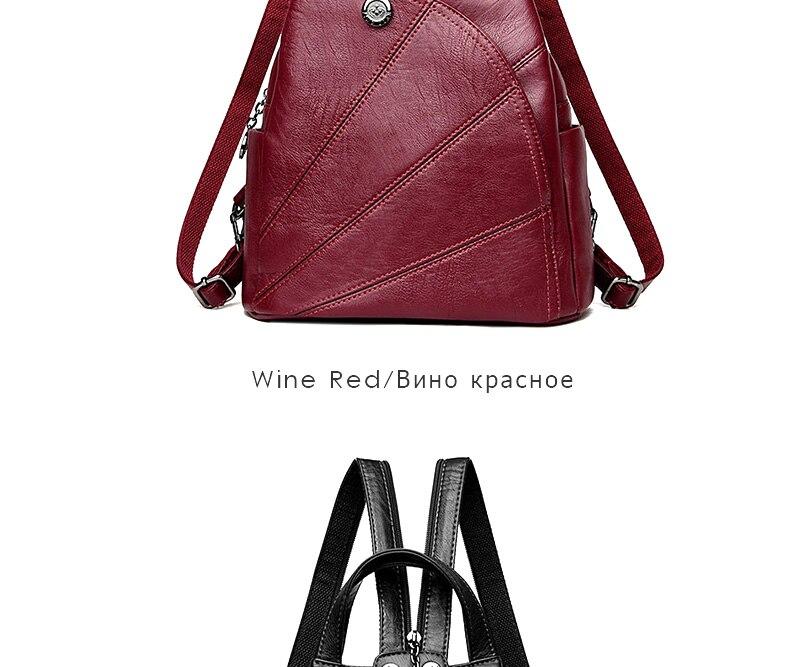 HTB1Oc0lh6ihSKJjy0Feq6zJtpXaT 2019 Women Anti-theft Leather Backpacks Female Ladies Backpacks For School Retro Sac a Dos Femme Female School Shoulder Bags