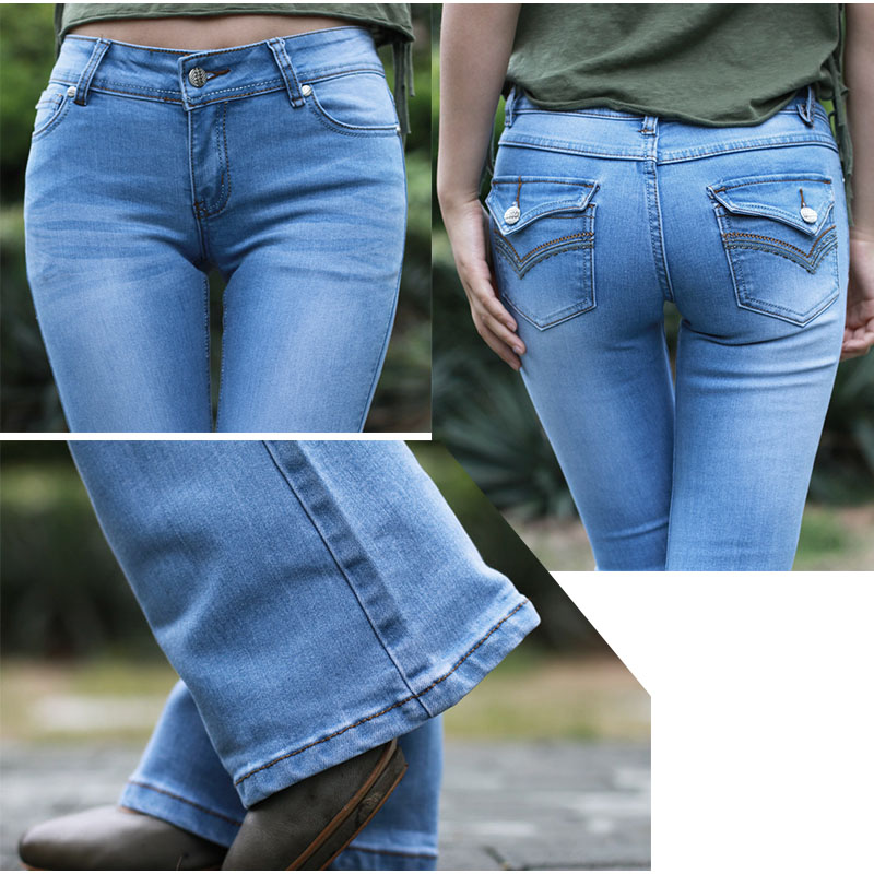 Aliexpress.com : Buy Extra Long Flare Length Capris Jeans For Tall ...