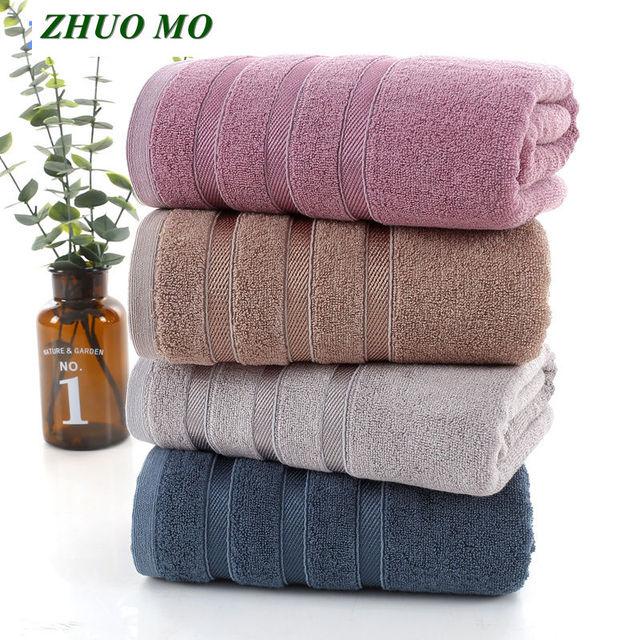 منشفة حمام ZHUO MO 70*140 سنتيمتر من ألياف الخيزران للبالغين رياضية للحمام والسفر في الهواء الطلق ناعمة سميكة عالية الامتصاص مضادة للبكتيريا