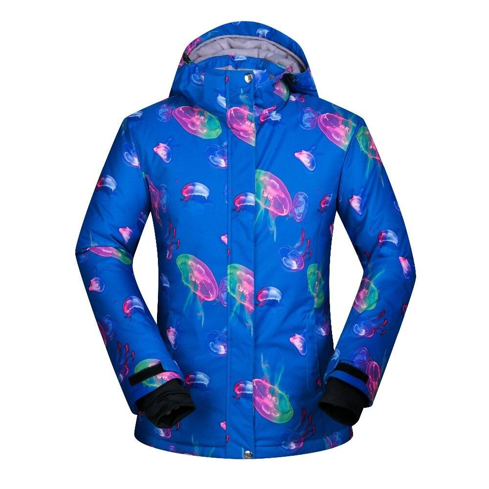 Prix pour 2017 Nouveau Haute Qualité Hiver Ski Veste Femmes Snowboard Neige Manteau Vêtements De Ski Coloré Vêtements Coupe-Vent Imperméable Femme Marque