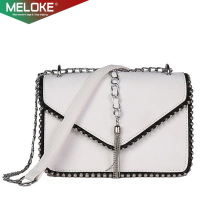 купить Meloke 2019 new small Women Bags PU leather Messenger Bag Clutch Bags tassel Design Mini Shoulder Bag Women Handbag purse M211 дешево