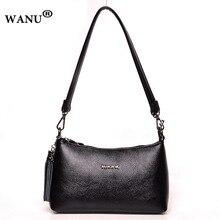 WANU модные мягкие кожаные Малый Для женщин Crossbody сумки кожаная Для женщин Сумка Высокое качество Half Moon сумка для жены матери