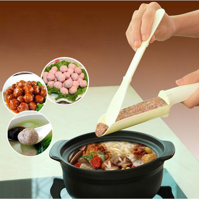 1set Convenient Meatball Patty Maker Home Kitchen Cooking Tools Poultry Lifters Meatball Fish Ball Burger Set DIY Accessories 1