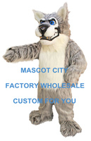 Hot Sale Mascot Alpha Wolf Mascot Costume Adult Cartoon Character Mascotta Outfit Kit Suit for Halloween Party Carnival SW901