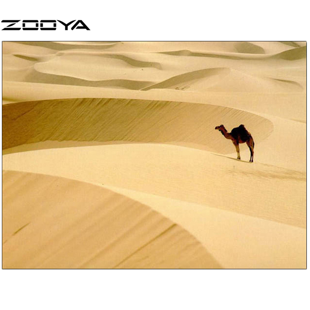 ZOOYA Real Knitting Needles 5D DIY Diamond Painting Desert Camel ...