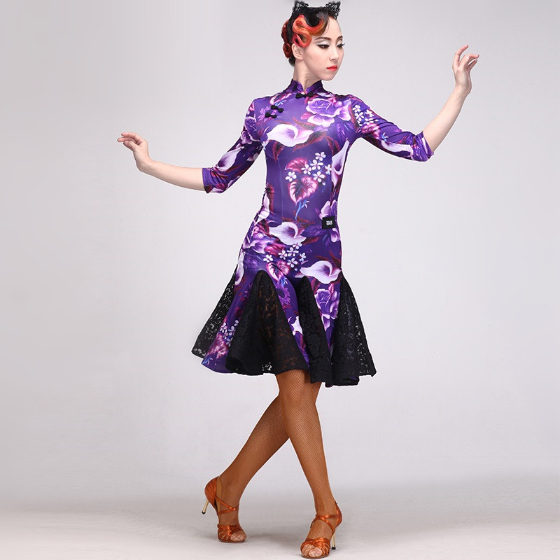 Picture of Latin Dance Dress Fringe Women Latin Dress Dancing Clothes Dancewear Dress Latina Salsa Dress Latin Dance Costumes For Women