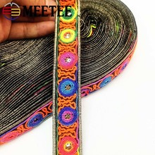 4Meters Fashion Clothes Bag Decorative Sequin Lace Trims Embroideried Ribbons Jacquard Webbing  DIY Garment Accessories