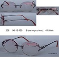 Óculos sem aro Óculos mulheres Eyewear óculos de leitura presbiopia lente olho de gato lente clara quadros gafas Oculos de grau Femininos
