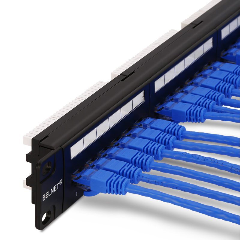 HQ 19''1U UTP 24-port CAT6 5e Patch Panel Cabinet Rack-mount Network Distribution Frame RJ45 Cable Adapter modular Keystone Jack 10 8ports cat 5e patch panel 1u soho mini patch panel 8port 10 inch rack mount