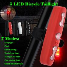 Nowa jazda na rowerze LED 7 ModesBike tylne światło ostrzegawcze tylne bezpieczeństwo akcesoria rowerowe reflektory bezpieczeństwo w nocy związek #5 tanie tanio ISHOWTIENDA Bike Light Sztyca outdoor product
