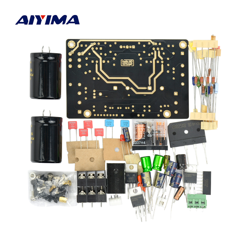 Aiyima Classic Lm1875 20w Audio Power Amplifier Board With Loudspeaker System Crossover Network Speaker Protection Circuit Warm Sound Bile Fever Diy Kits In From Consumer