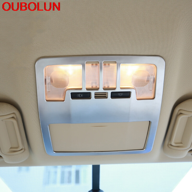 Auto Replacement Parts Oubolun For Toyota Highlander Kluger Xu50 2014 2015 Front Rear Reading Light Lamp Abs Chrome Cover Trim Inner Molding 5pcs Delaying Senility Exterior Parts
