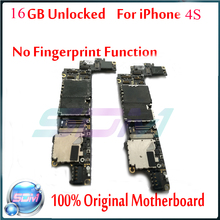 100% Test Well and Good Working for iphone 4s Mainboard,16G Original Unlocked for iphone 4s Motherboard with Chips Free Shipping