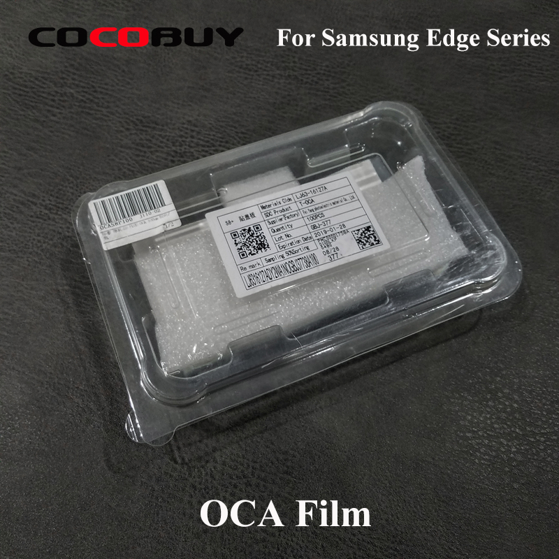 Novecel T OCA 125um 100pcs lot For Samsung Galaxy S7edge S8 S9 Plus Note 8 9
