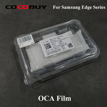 Novecel T-OCA 125um 100pcs/lot For Samsung Galaxy S7edge S8 S9 Plus Note 8 9 Optical Clear Adhesive Glue Film for Glass Laminate