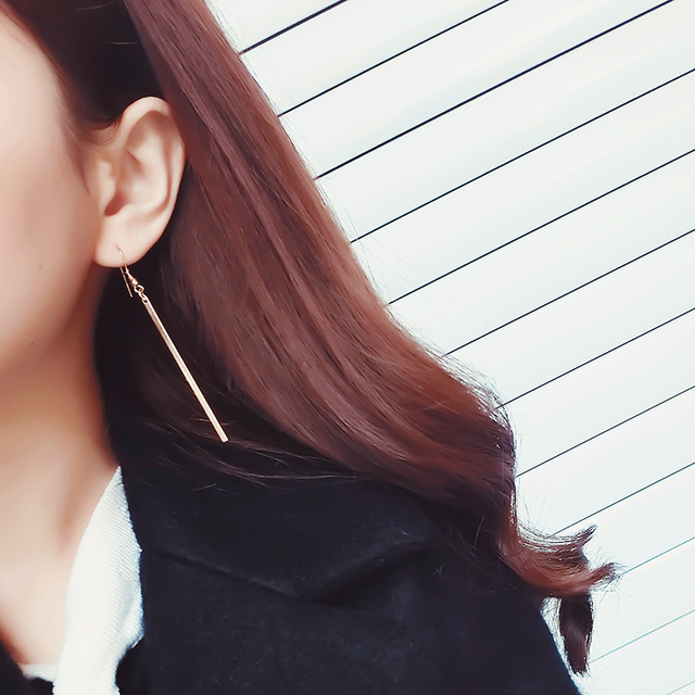 E0285 New Arrival Fashion Gold Silver Color Metal Long Tassel Drop Dangle Earring For Women Exquisite Birthday Gift Dropshipping