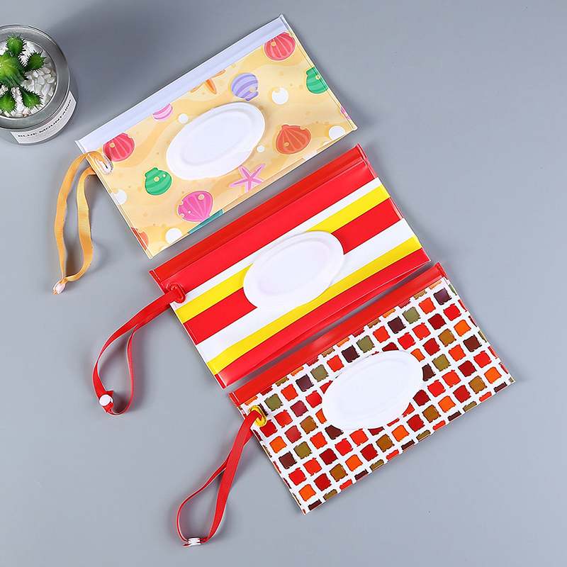 Mother & Kids Confident Clutch And Clean Wipes Carrying Case Eco-friendly Wet Wipes Bag Clamshell Cosmetic Pouch Easy-carry Snap-strap Wipes Container Excellent Quality