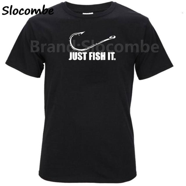 2018 модные Для мужчин просто рыба его забавные рыболова крючка наживку и снасти Preshrunk футболка брендовая хлопковая футболка