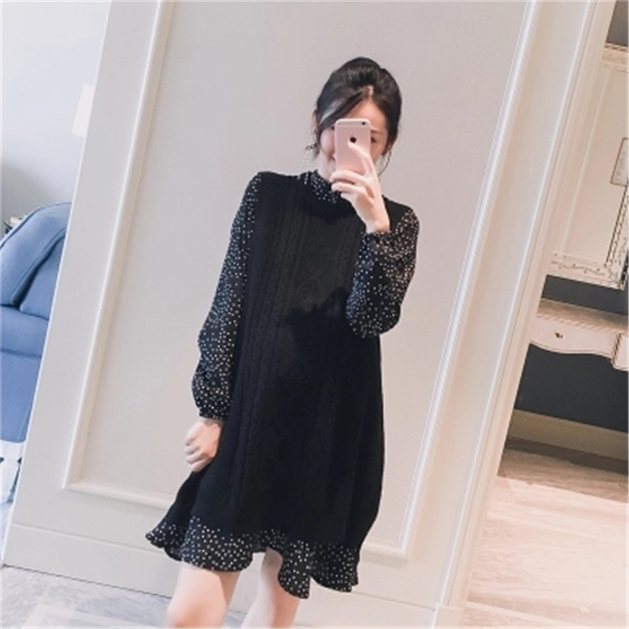 Maternity Dresses Female Clothes For Pregnant Women Winter Sweater Hamile Giyim Gravida Pregnancy Clothes Knitted Dress 70R0169 maternity clothes fall pregnant women sweater knitting dress autumn winter knitted female loose warm pullover cute lady dresses