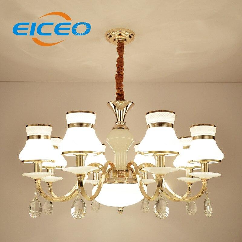 (EICEO) Křišťálové lampy evropského stylu Moderní smluvní sál Lampa Atmosférická restaurace Ložnice LED Závěsná světla