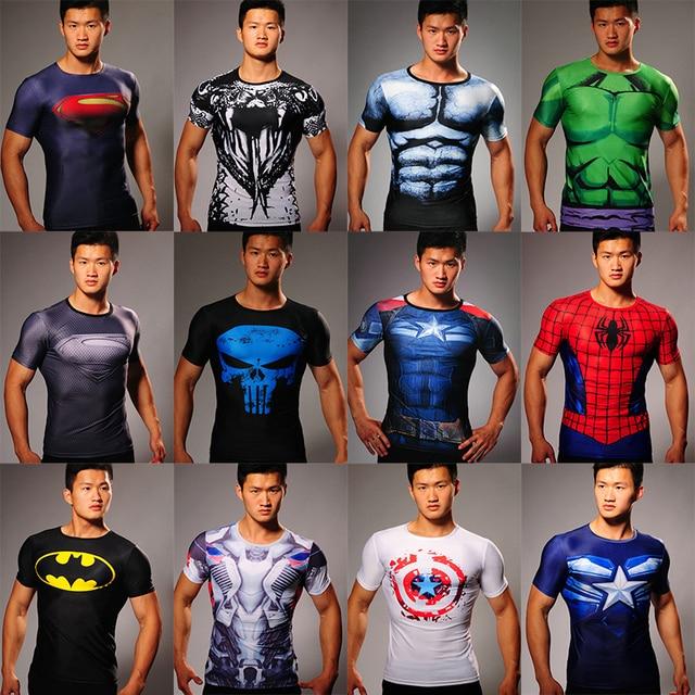 5cce4eb1d66fb MEW Men bodys armour marvel captain america/superman/batman/punisher  compression t shirt