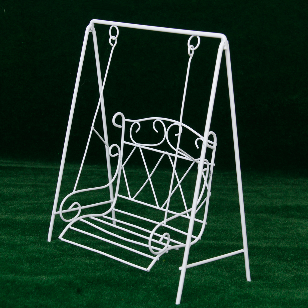Dollhouse miniature 1:12 iron chair model for doll house furniture  In~GN