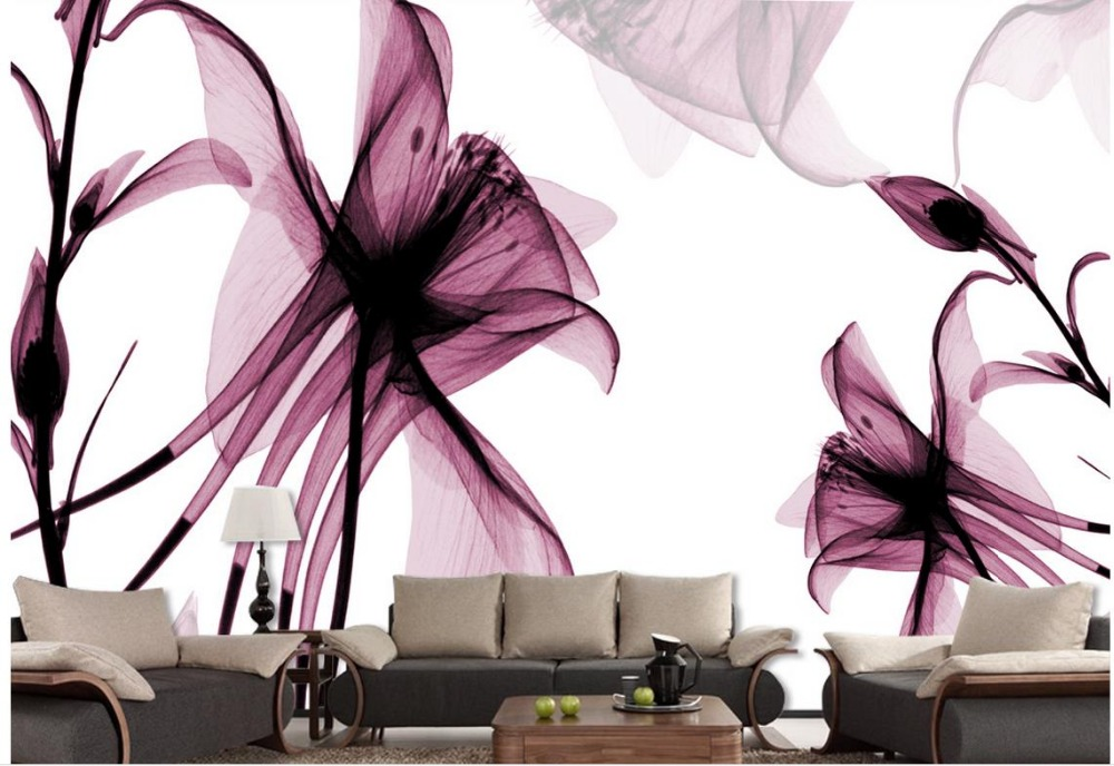 Custom 3d Wallpaper Modern Simple Abstract Flower Background Wall Living In Stickers From Home Garden On Aliexpress