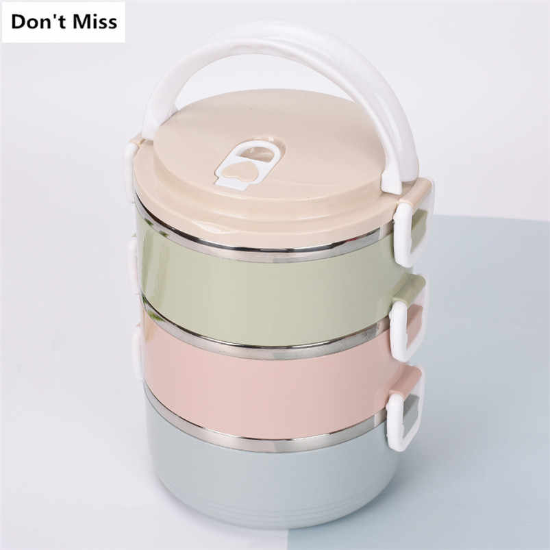 Leakproof Lunch Box 1/2/3 Layers Thermal for Food Bento Box 304 Stainless Steel LunchBox for Kids Portable Picnic Office Workers