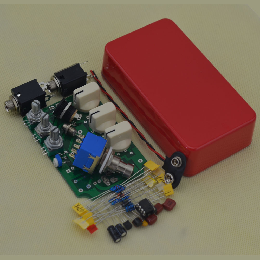 DIY Overdrive Guitar Effect Pedal True Bypass@ Electric guitarra Red stompbox pedals OD1 Kits mooer ensemble queen bass chorus effect pedal mini guitar effects true bypass with free connector and footswitch topper
