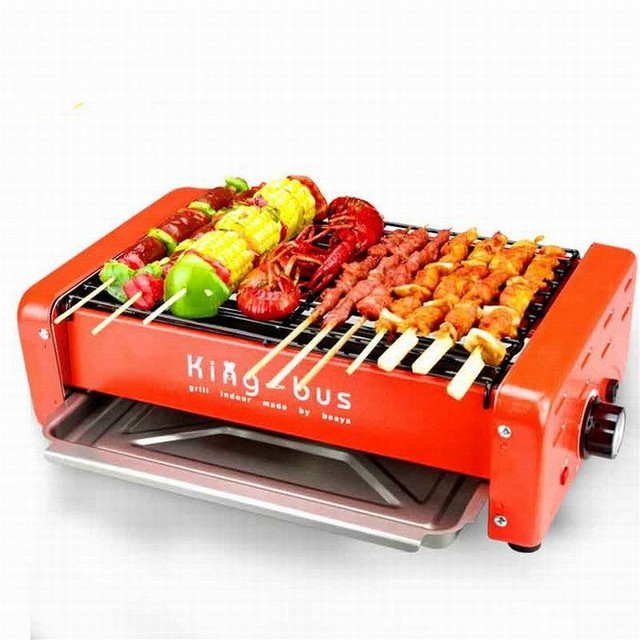 BBQ household electric barbecue smokeless barbecue machine electric grill skewers