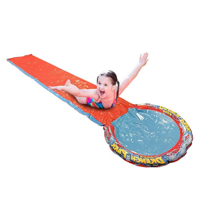 4.8m Giant Surf N Slide Inflatable Play Center Water Slide For Kids Summer Fun Backyard Outdoor Pool Toys Swimming Pool orange
