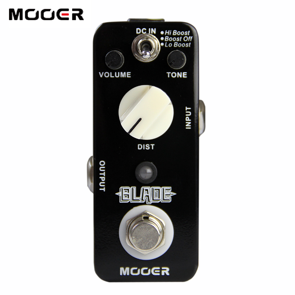 Mooer Blade Metal Distortion Pedal for Electric Guitar 3 Working Modes: Lo Boost/Boost Off/Hi Boost Guitar effect pedal mooer flex boost guitar pedal with wide gain range boost enough working along as a best overdrive