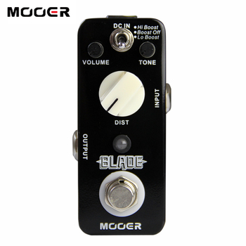 Mooer Blade Metal Distortion Pedal for Electric Guitar 3 Working Modes: Lo Boost/Boost Off/Hi Boost  Guitar effect pedal