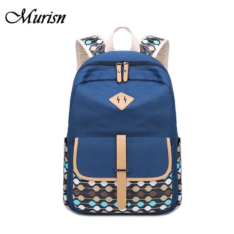 Canvas Backpack Back To School Bagpack Backpacks For Teenage Girls Schoolbag Female Backpack Women Laptop Bag For Teenagers