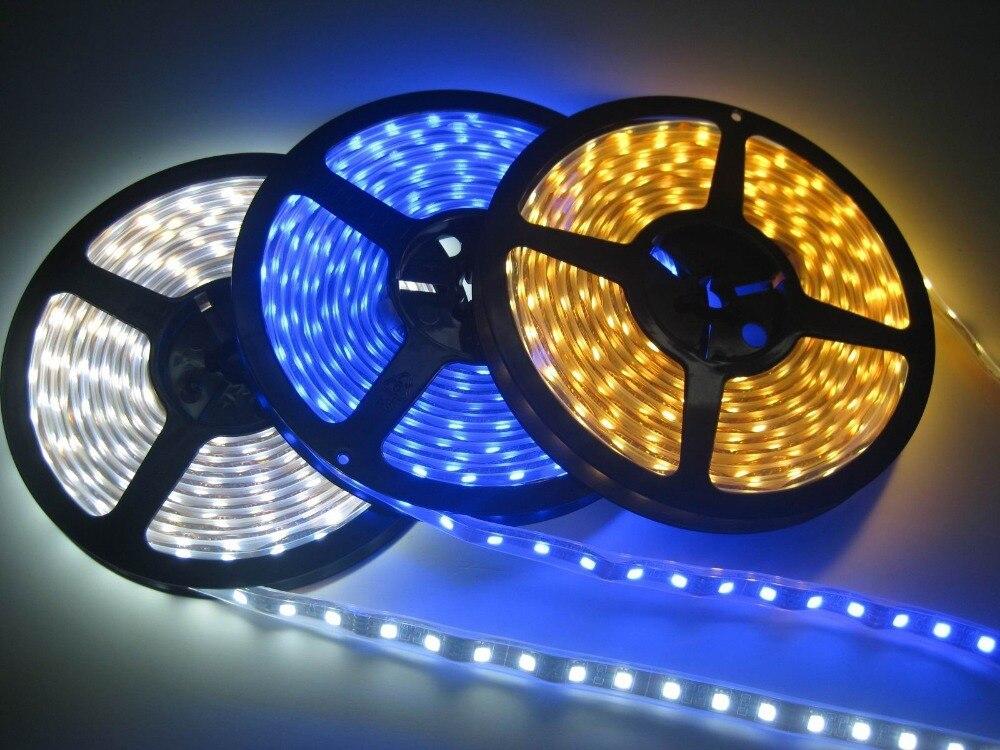 Led Lighting Genteel Led Strip 5m 500cm Smd 5050 Dc12v Waterproof Rgb Led Strip Lights Flexible 300 Leds Strip Light 12v Party Car Led Strips