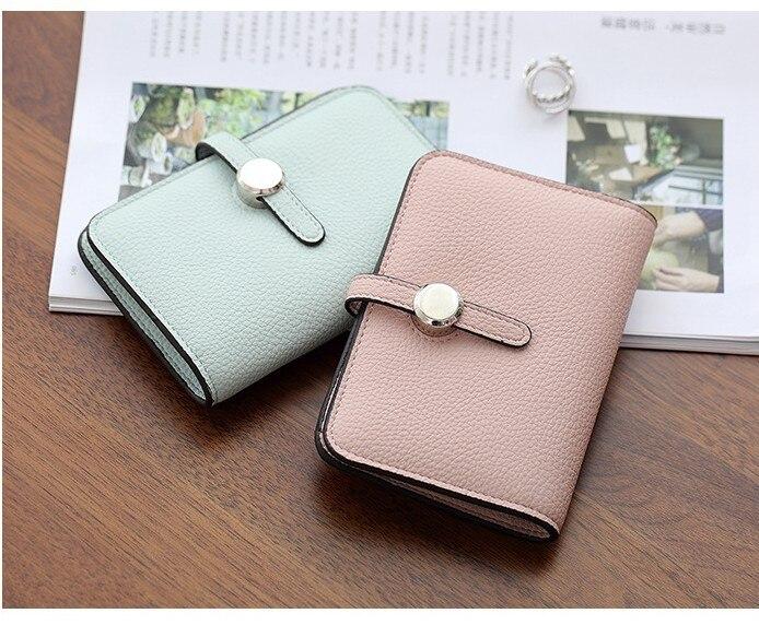 2017 Forró értékesítés! Hasp rövid női pénztárca minőségi PU pénz táskák csat kézitáska kártya tartó női Cluth táska